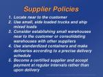 supplier policies
