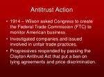 antitrust action