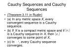 cauchy sequences and cauchy sequences