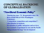 conceptual backbone of globalisation
