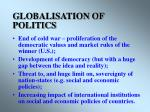 globalisation of politics