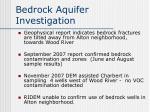 bedrock aquifer investigation