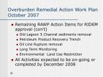 overburden remedial action work plan october 200715