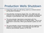production wells shutdown