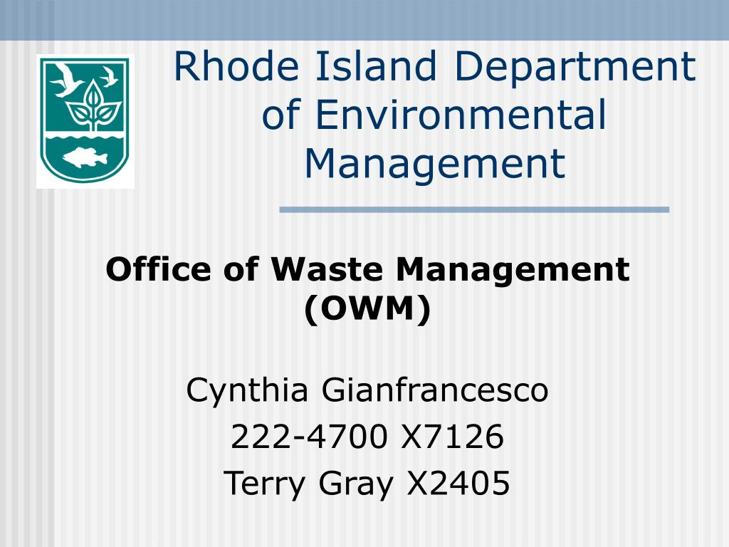 rhode island department of environmental management l.