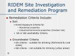ridem site investigation and remediation program4
