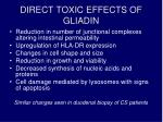 direct toxic effects of gliadin