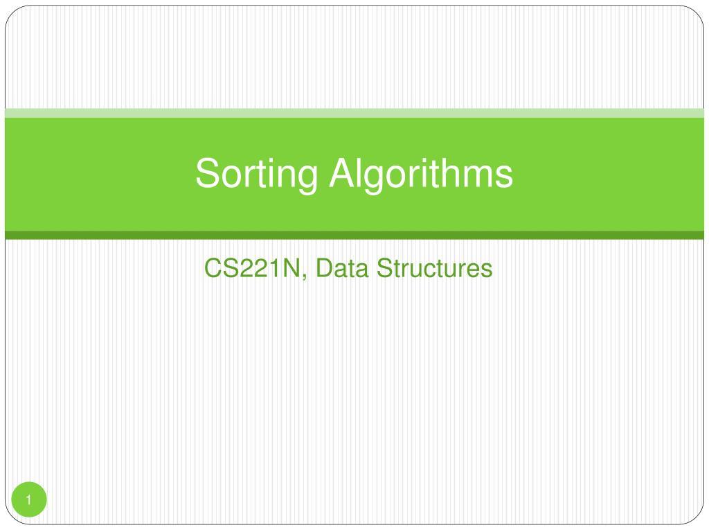 sorting algorithms l.