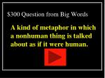 300 question from big words