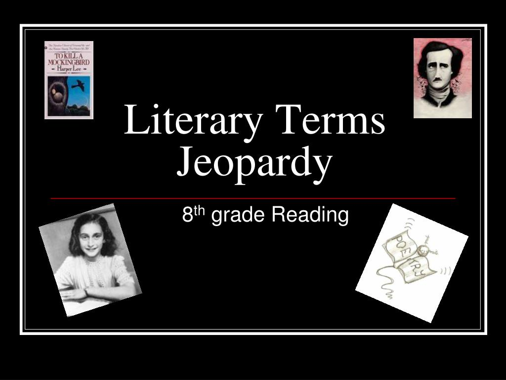 literary terms jeopardy l.
