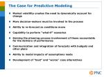 the case for predictive modeling