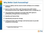 why better cash forecasting