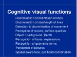 cognitive visual functions