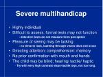 severe multihandicap