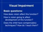 visual impairment8