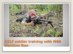 milf soldier training with m60 machine gun