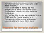 reasons for terrorist actions