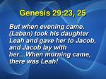 genesis 29 23 25