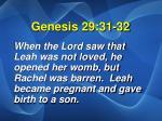 genesis 29 31 32