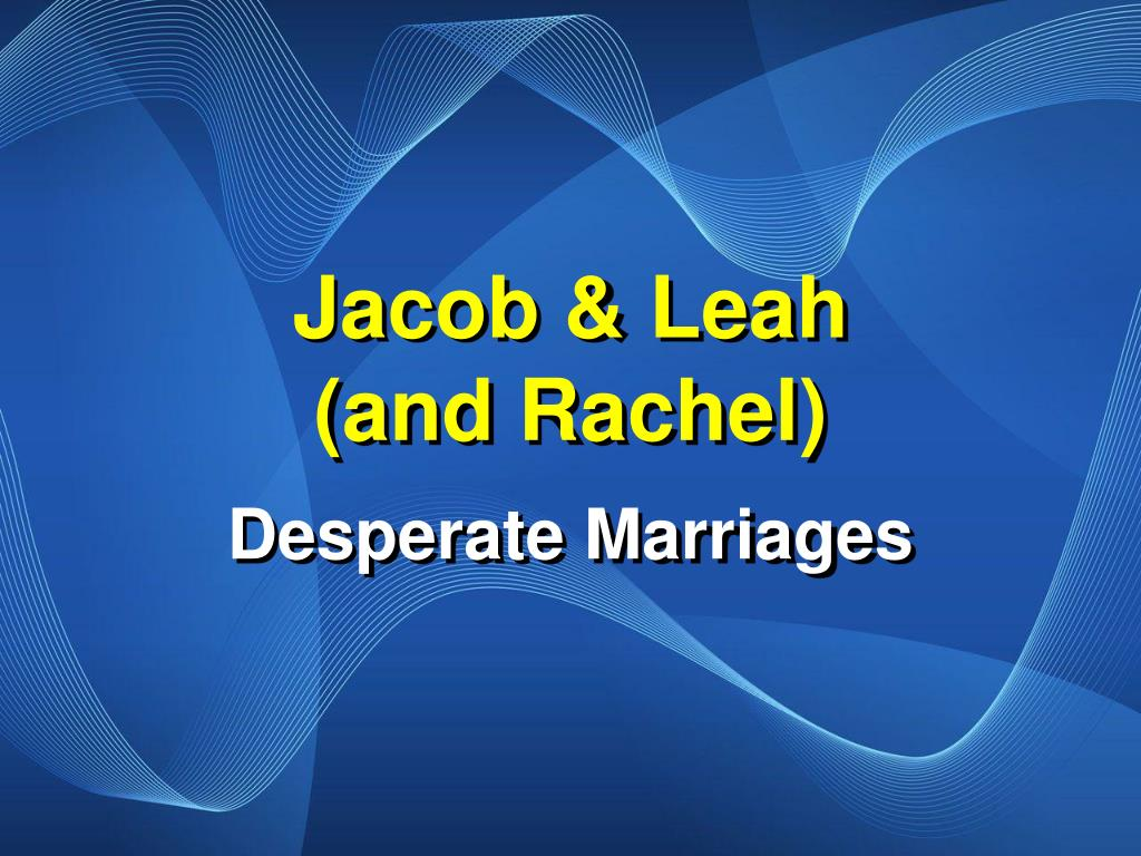 jacob leah and rachel l.