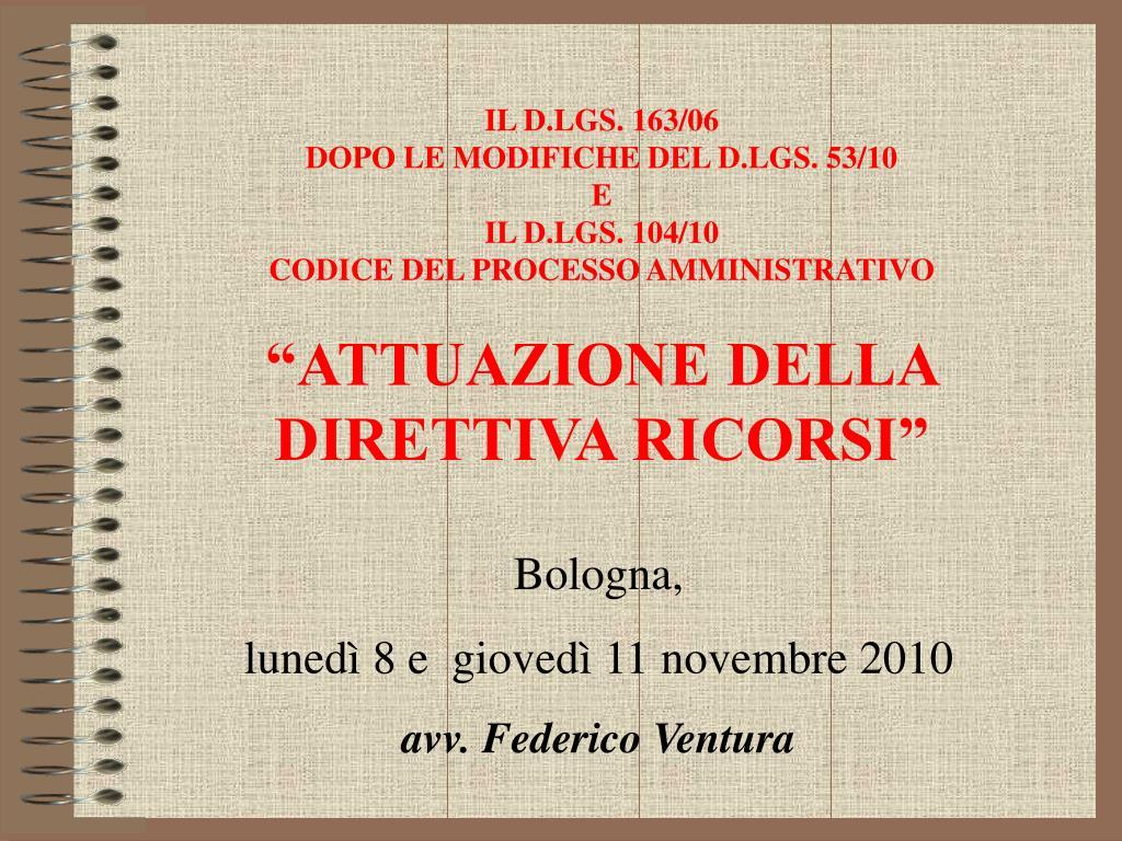 bologna luned 8 e gioved 11 novembre 2010 avv federico ventura l.