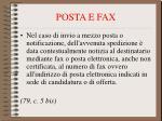 posta e fax