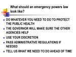 what should an emergency powers law look like