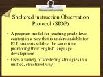sheltered instruction observation protocol siop