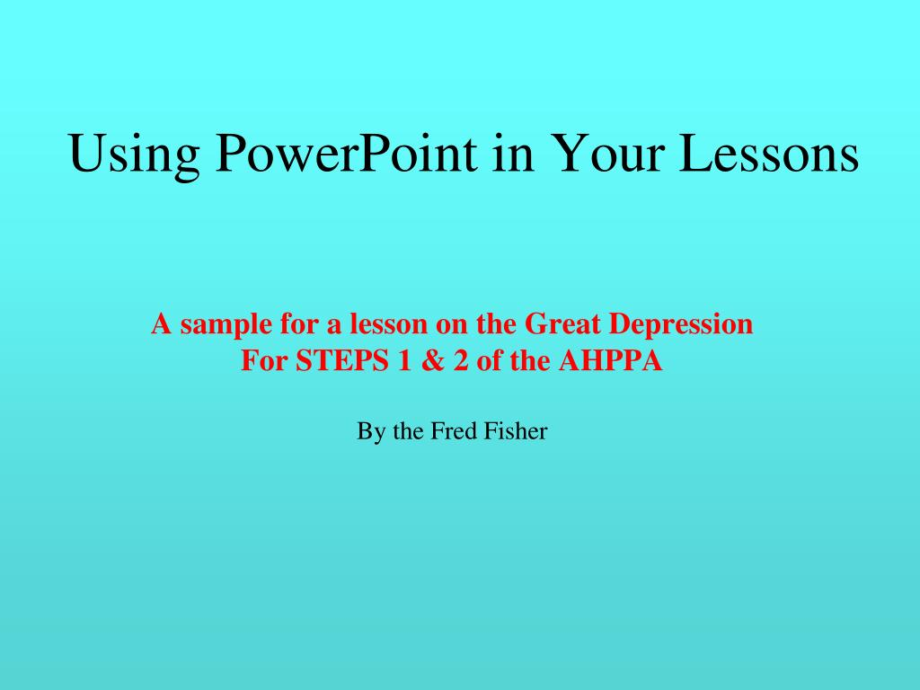 using powerpoint in your lessons l.
