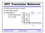 off transistor behavior