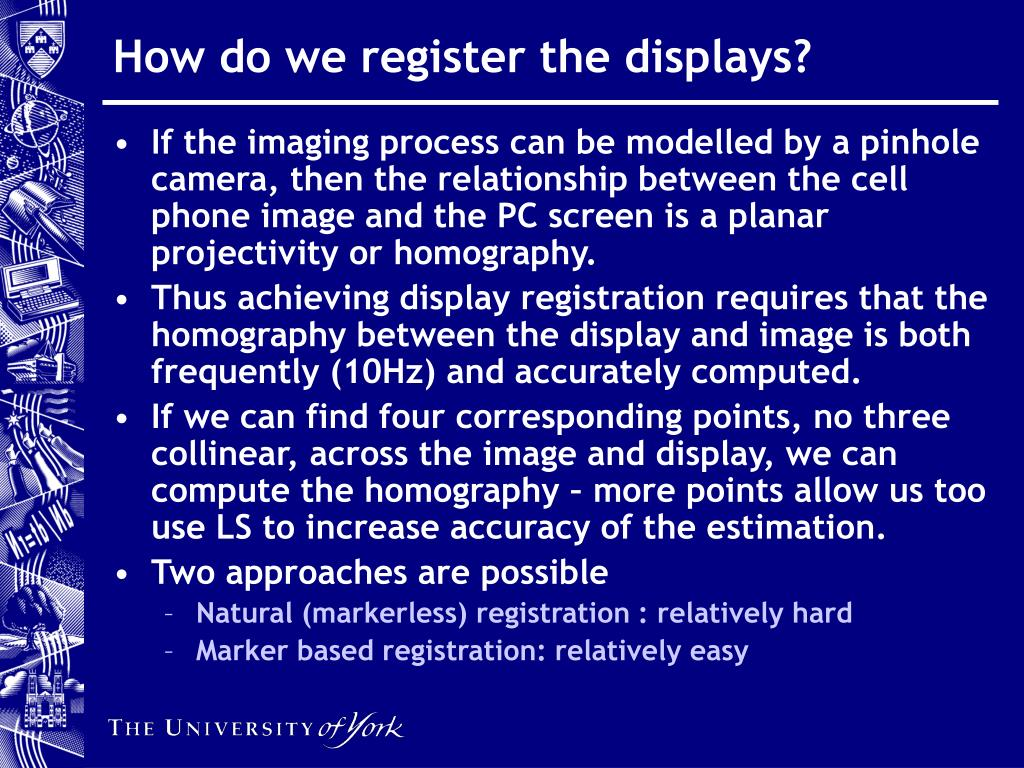 How do we register the displays?