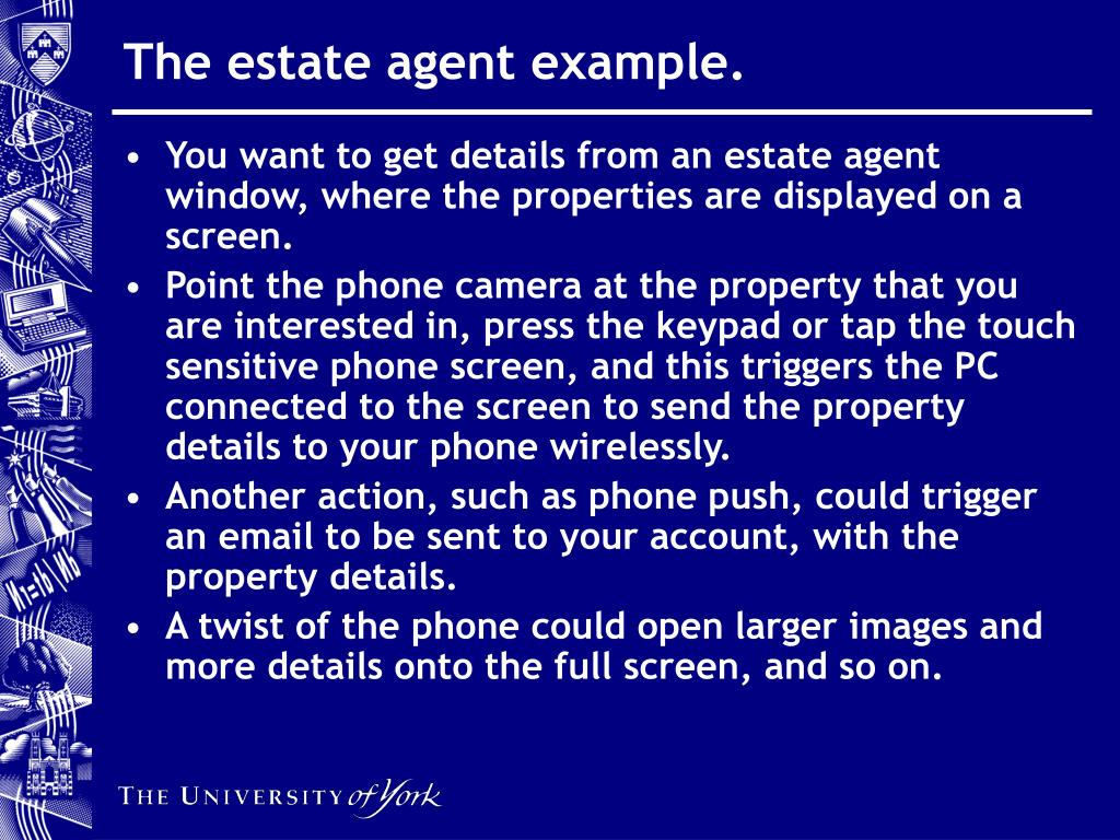 The estate agent example.