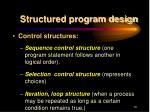 structured program design