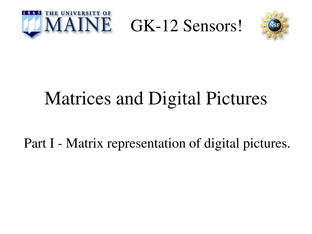matrices and digital pictures