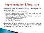 implementation effort cont d9