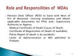 role and responsilities of mdas