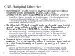 cne hospital libraries