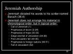 jeremiah authorship22