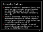 jeremiah s audience