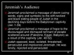 jeremiah s audience42
