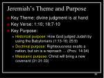 jeremiah s theme and purpose