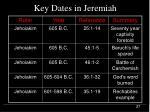 key dates in jeremiah27