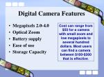digital camera features