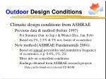 outdoor design conditions10