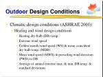 outdoor design conditions12