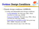 outdoor design conditions13
