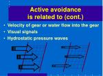 active avoidance is related to cont