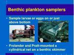 benthic plankton samplers