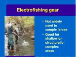 electrofishing gear