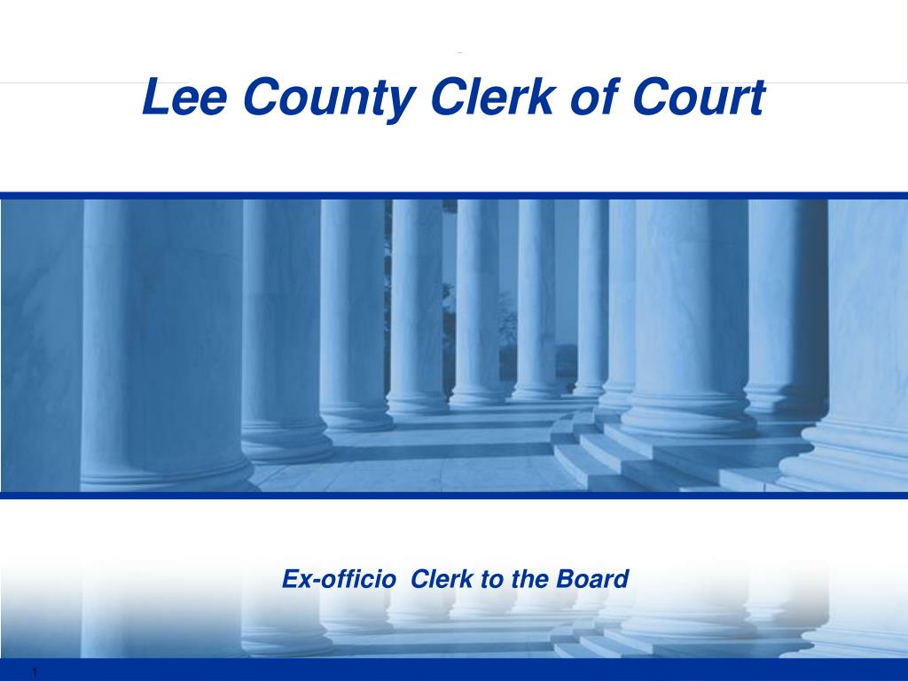 ex officio clerk to the board l.